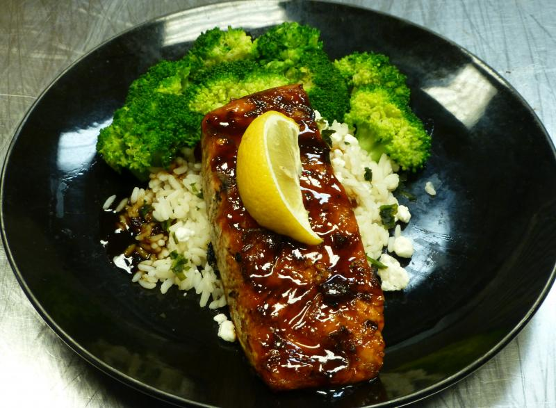 Bourbon Teriyaki Salmon