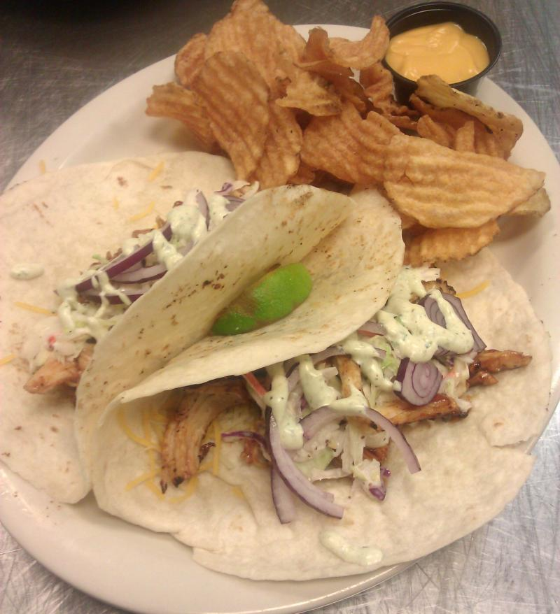 Juicy BBQ shredded chicken, blessed with our awesome Baja sauce!