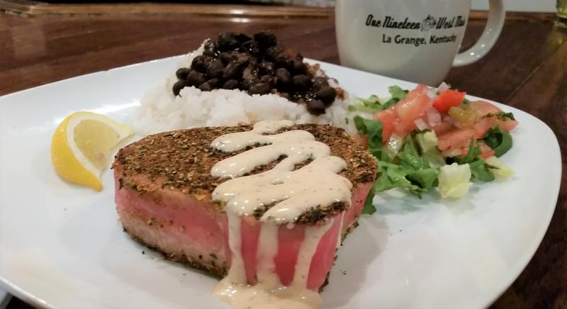Spicy Ahi Tuna Steak!